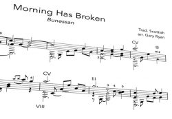 Morning has Broken notation
