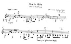 Simple Gifts Notation