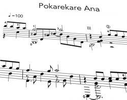 Pokarekare Ana pdf Notation